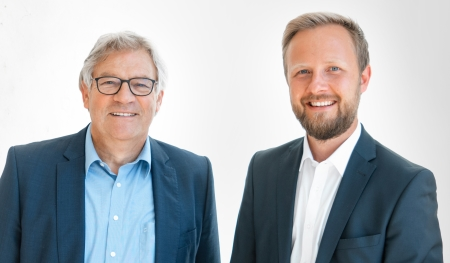 Ulrich Burkart (left) and Dominik Broellochs will coordinate all sustainability initiatives of the of Optima Group. (c): Optima