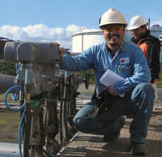 Actuators automate south american tank farm
