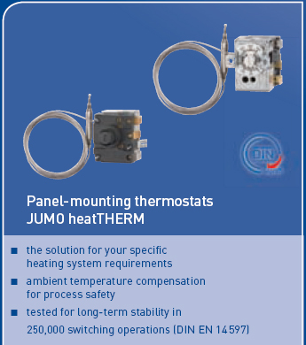 heatTHERM, panel-mounting thermostats