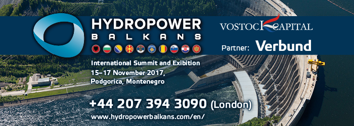 Hydropower Balkans 2017 International Summit and Exhibition