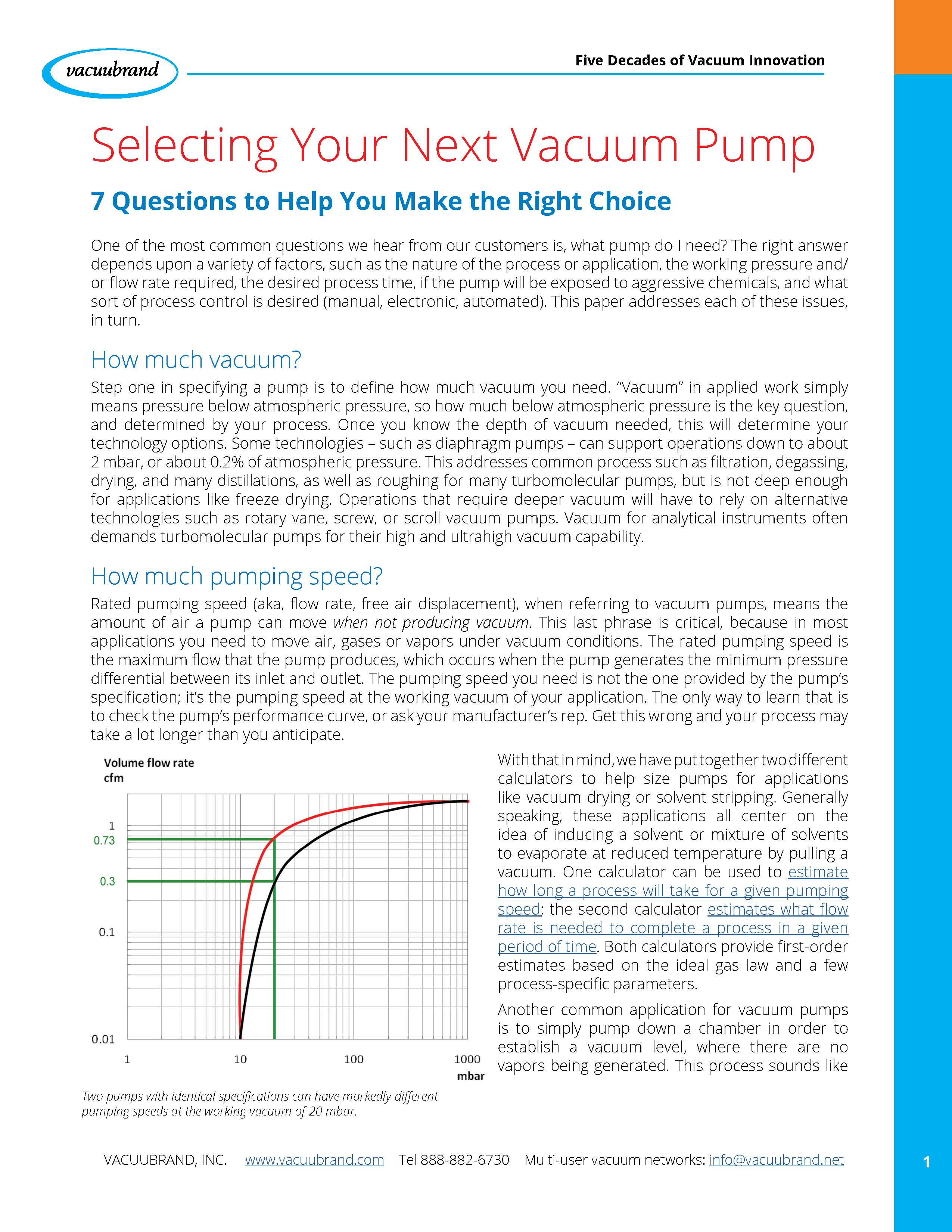 Selecting Your Next Vacuum Pump
