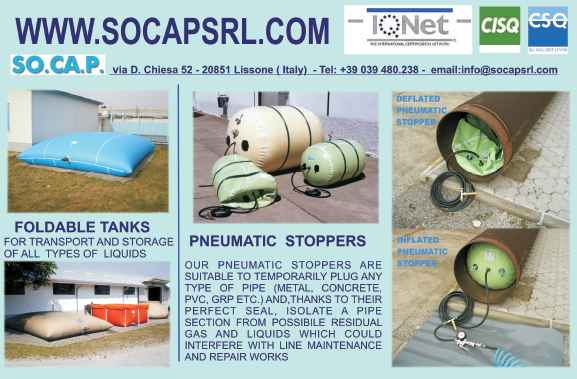 Foldable tanks & pneumatic stoppers